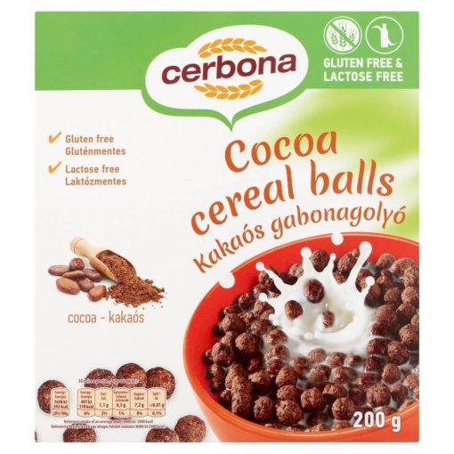 Cerbona Kakaós Gabonagolyó, Gluténmentes, Laktózmentes 200 g
