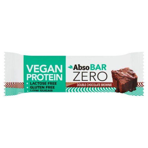 Absobar Zero Glutén- és Laktózmentes, Brownie Ízesítésű, Magas Fehérjetartalmú Szelet 40 g