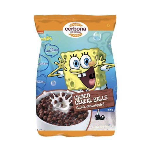 Cerbona SpongyaBob csokoládés gabonagolyó 225 g