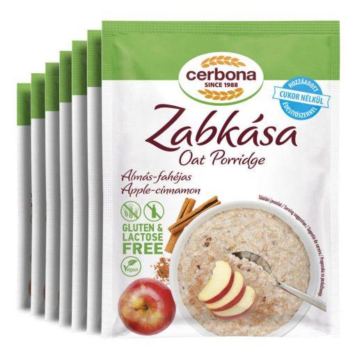 Cerbona glutén- és laktózmentes almás-fahéjas zabkása hozzáadott cukor nélkül - Heti csomag / 7 x 50 g