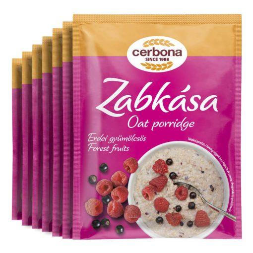Cerbona Erdei-gyümölcsös zabkása - Heti csomag / 7 x 55 g