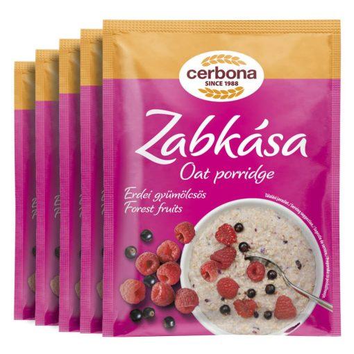 Cerbona Erdei-gyümölcsös zabkása - Tízórai csomag / 5 x 55 g