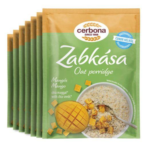 Cerbona Mangós zabkása, hozzáadott cukor nélkül, édesítőszerrel - Heti csomag / 7 x 50 g