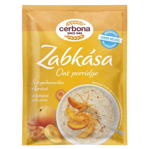 Cerbona Sárgabarackos zabkása, hozzáadott cukor nélkül, édesítőszerrel 50 g