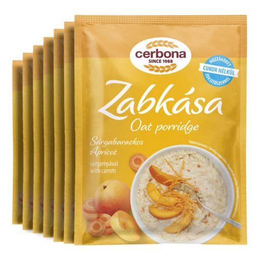 Cerbona Sárgabarackos zabkása, hozzáadott cukor nélkül, édesítőszerrel - Heti csomag / 7 x 50 g