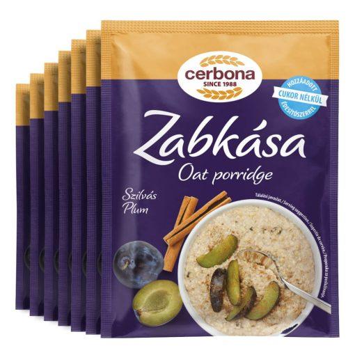 Cerbona Szilvás zabkása, hozzáadott cukor nélkül, édesítőszerrel - Heti csomag / 7 x 50 g