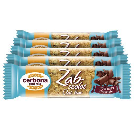 Cerbona csokoládés zabszelet - Tízórai csomag / 5 x 40 g