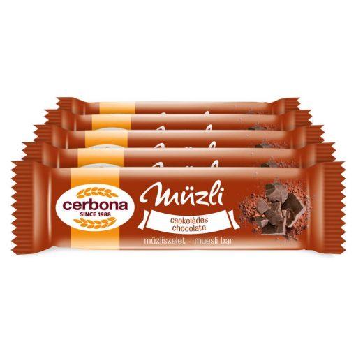 Cerbona Csokoládés müzliszelet - Tízórai csomag / 5 x 20 g
