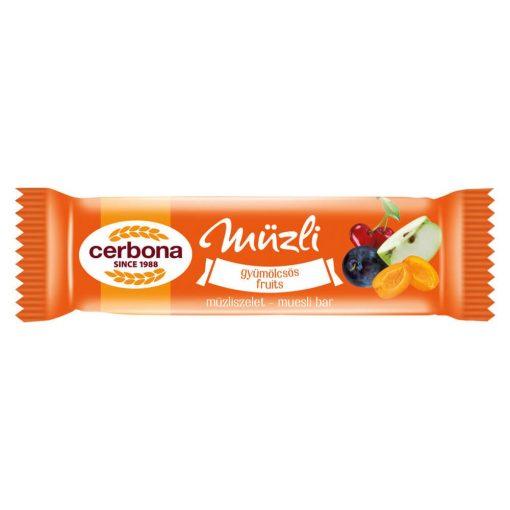 Cerbona Gyümölcsös müzliszelet 20 g