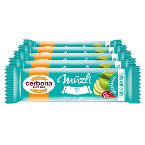 Cerbona Fitt müzliszelet Kalciummal - Tízórai csomag / 5 x 20 g