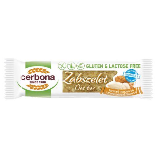 Cerbona glutén- és laktózmentes zabszelet karamell-mandulás, édesítőszerrel 40 g