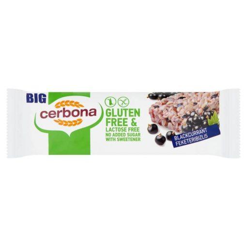 Cerbona BIG Glutén- és Laktózmentes Feketeribizlis Müzliszelet Hozzáadott Cukor Nélkül 35 g