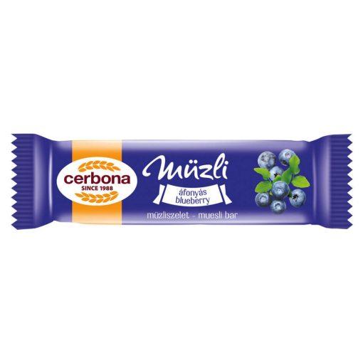 Cerbona áfonyás müzliszelet joghurtos bevonóval 20 g