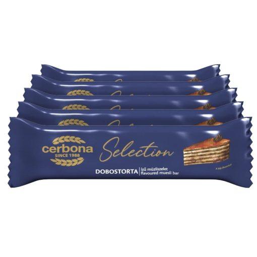 Cerbona Selection Dobostorta ízű müzliszelet 5 x 22 g / Tízórai csomag