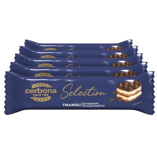 Cerbona Selection Tiramisu ízű müzliszelet fehér bevonó talppal 5 x 22 g / Tízórai csomag