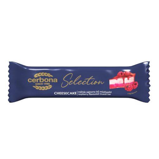Cerbona Selection Málnás-sajttorta ízű müzliszelet joghurtos bevonó talppal 22 g