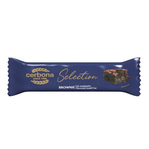 Cerbona Selection Brownie ízű müzliszelet kakaós bevonó talppal 22 g