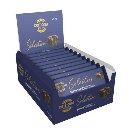 Cerbona Selection Brownie ízű müzliszelet kakaós bevonó talppal 20 x 22 g / 20 db