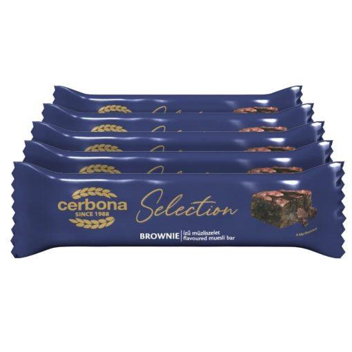Cerbona Selection Brownie ízű müzliszelet kakaós bevonó talppal 5 x 22 g / Tízórai csomag
