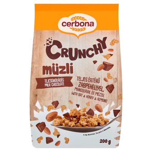 Cerbona Crunchy Tejcsokoládés müzli 200 g