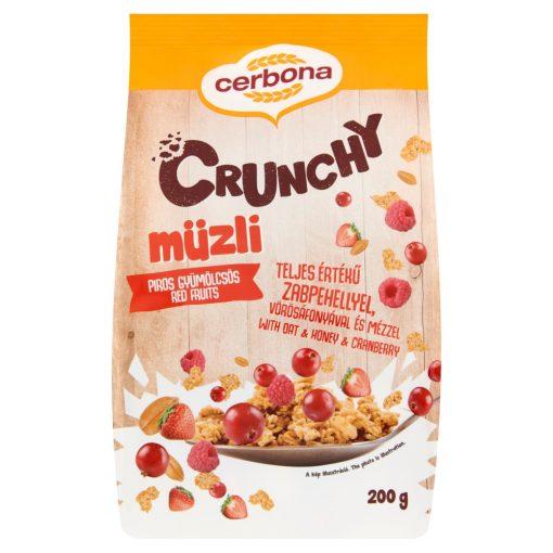Cerbona Crunchy Piros-gyümölcsös müzli 200 g