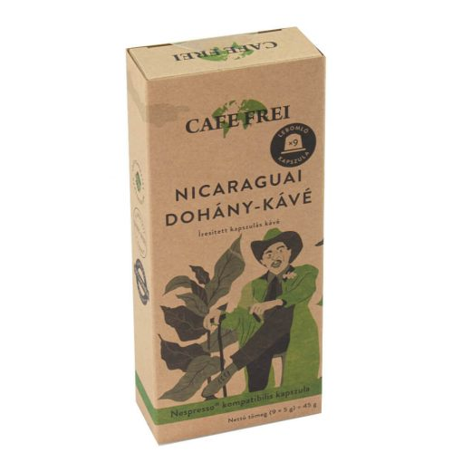 Café Frei, Nicaraguai dohány-kávé, 9 db-os x 5 g = 45 g doboz / Nespresso kompatibilis