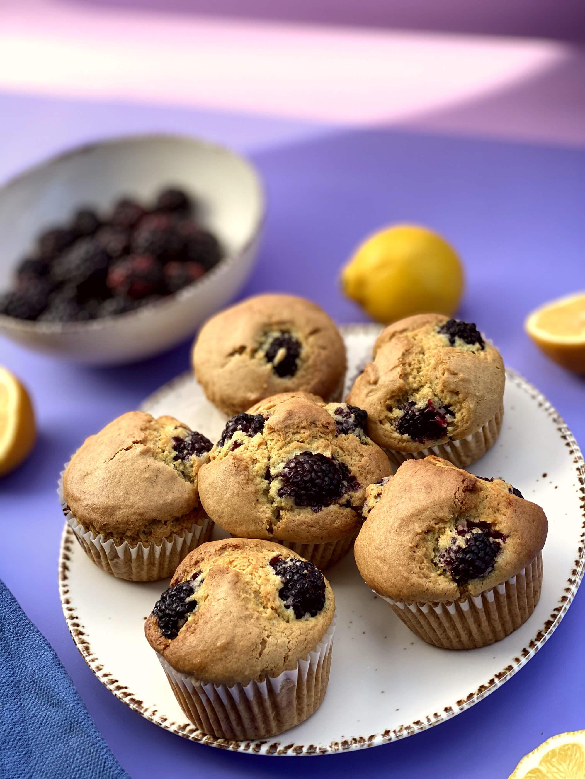 Szedres-citromos muffin