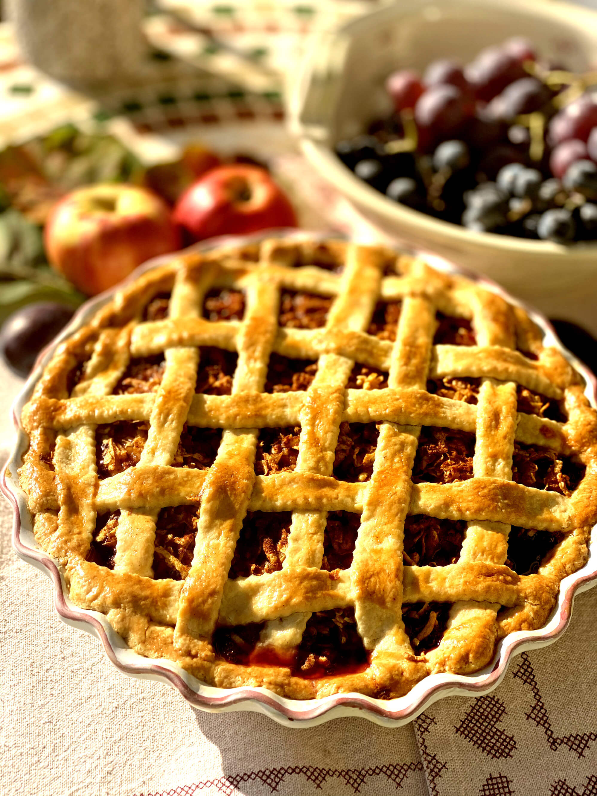Szilvás-almás pite
